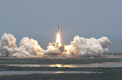 Liftoff of space shuttle Atlantis