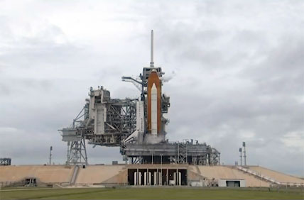 Space shuttle Endeavour undergoes a tanking test Wednesday, July 1.