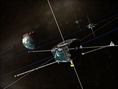 Artist's concept of THEMIS in orbit.