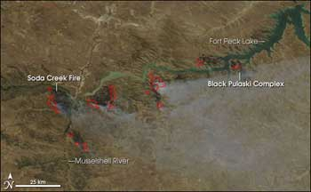 Image of Fort Peck fire