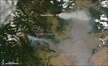 Image of the Rimrock fire.