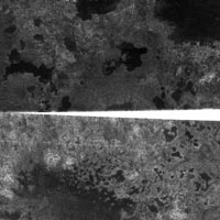 probable lakes on Titan
