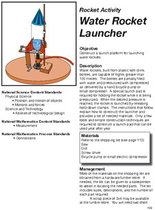 First Page Of Bottle Rocket Launcher Directions