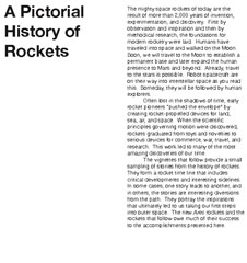 First page of A Pictorial History of Rockets