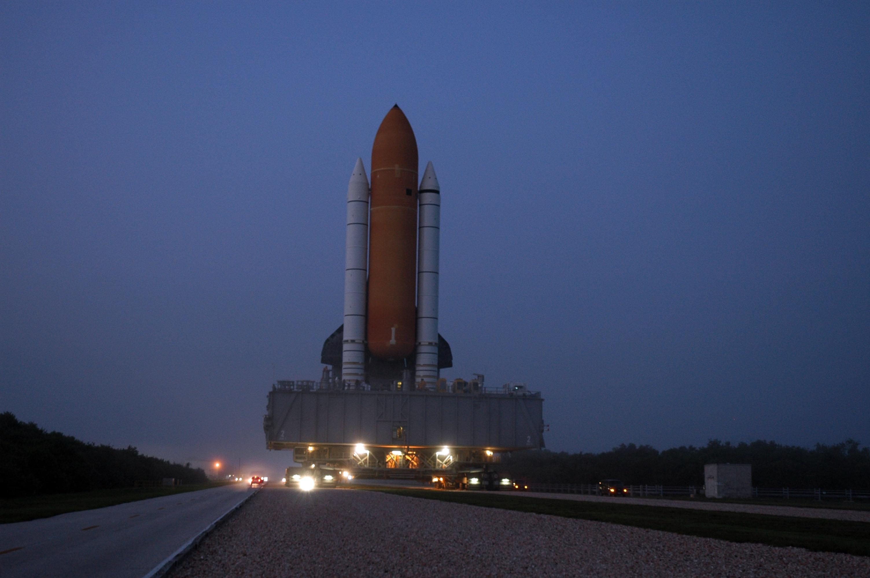 NASA - Rollout of Space Shuttle Atlantis for STS-115