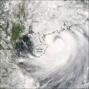 The Moderate Resolution Imaging Spectroradiometer on NASA's Terra satellite acquired this photo like image of Typhoon Prapiroon on August 3, 2006, at 11:30 a.m. local time.
