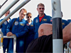 The STS-115 crew receives launch pad emergency training.