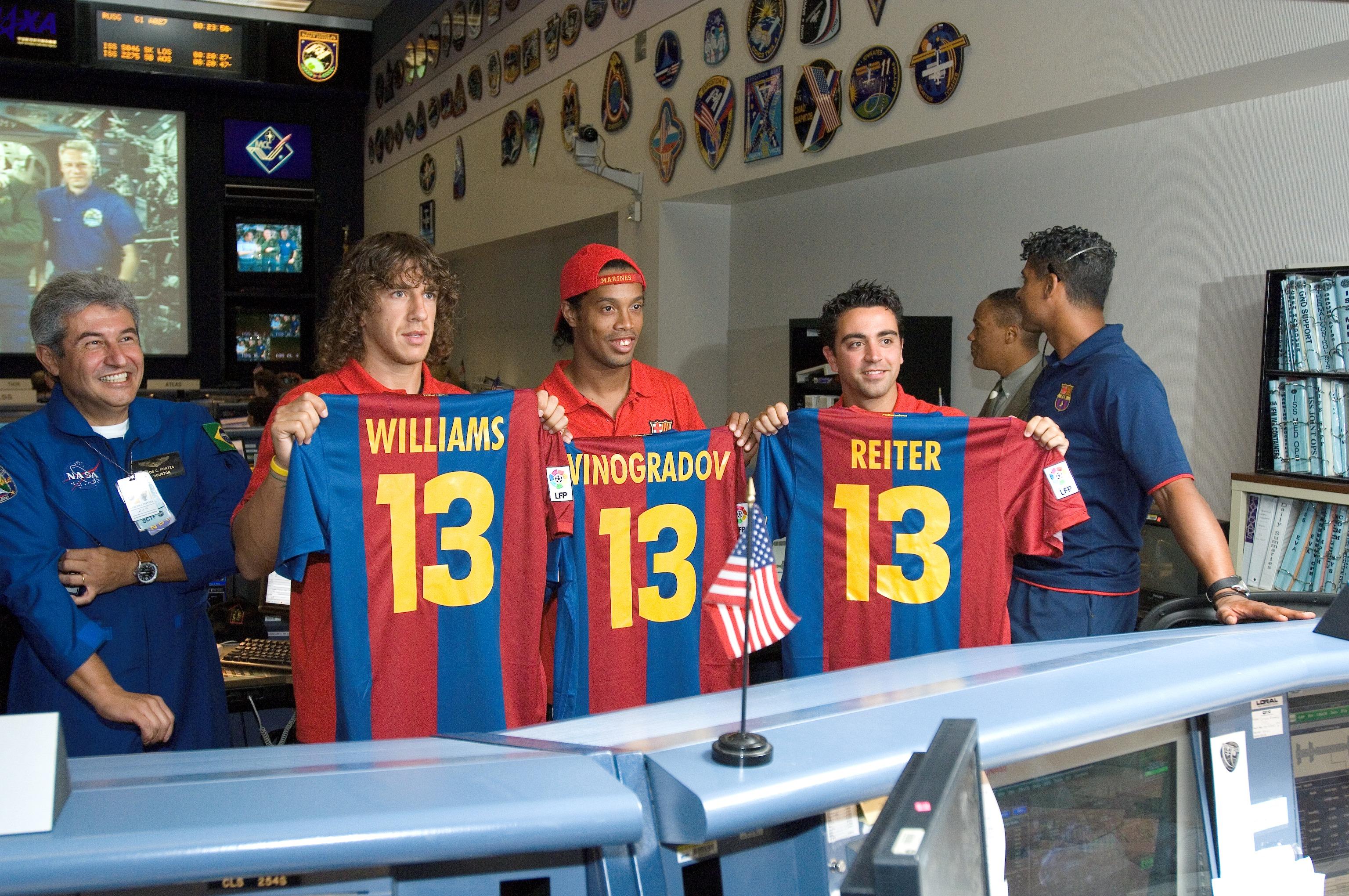 Nasa Members Of The Fc Barcelona Soccer Team