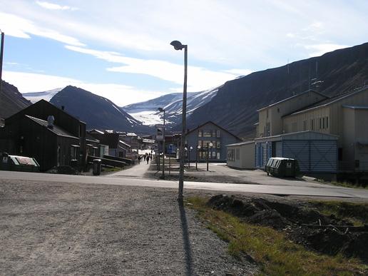 Downtown Longyearbyen in Svalbard, Norway