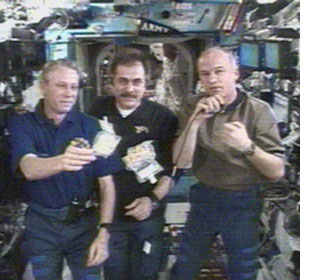 Expedition 13 crew chats with Chef Emeril Lagasse