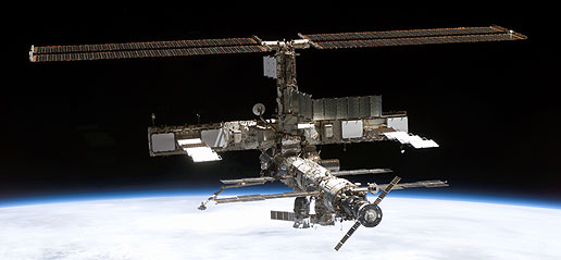 NASA - Space Station Under Construction: Building a Ship ...
