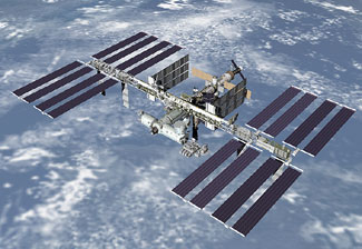 JSC2006-E-25646 : Artist rendering of completed space station