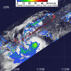 TRMM image of Tropical Storm Hector