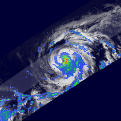 TRMM image of Hector from August 18