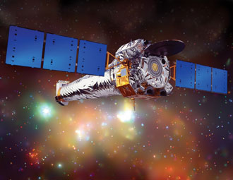 Artist concept of NASA's Chandra X-ray Observatory