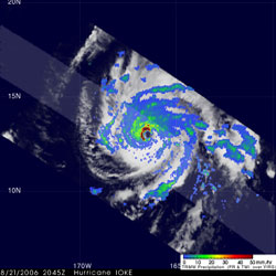TRMM image of Hurricane Ioke on August 21, 2006