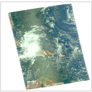 AIRS real color image of Ernesto taken on August 28, 2006
