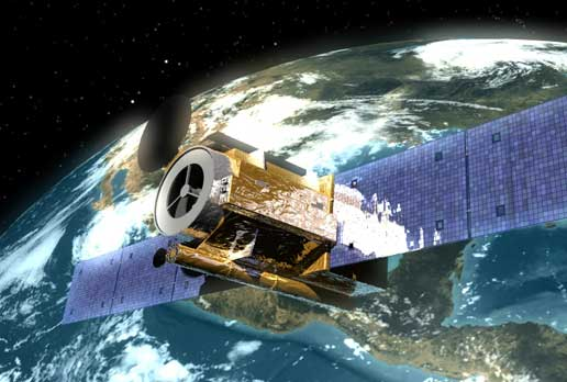 Artist concept of Solar-B operating in space