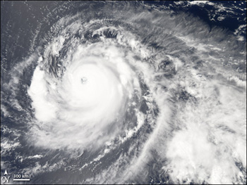 MODIS image of Hurricane Ioke