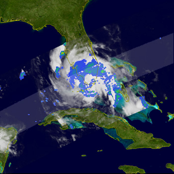 TRMM image of Ernesto from August 30, 2006