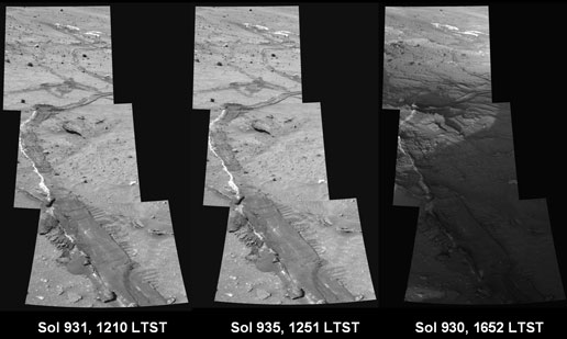 Series of Mars images taken by Spirit