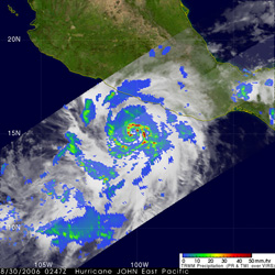 TRMM image of Hurricane John on August 30, 2006