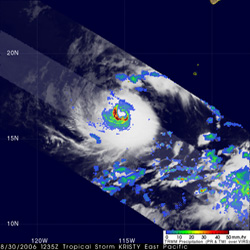 TRMM image of Hurricane Kristy on August 30, 2006