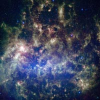 infrared view of Large Magellanic Cloud