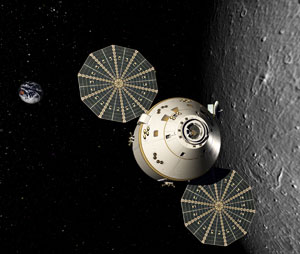 Orion crew in lunar orbit