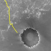 Opportunity's path towards Victoria Crater