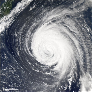 Aqua's MODIS instrument captures this image of Ioke on September 4, 2006