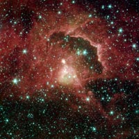 a star-forming region located 21,000 light-years away in the Cepheus constellation