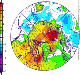 Image of temperature anomalies