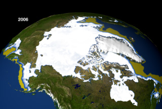 Image showing the annual maximum amount of winter sea ice from 1979 to 2006