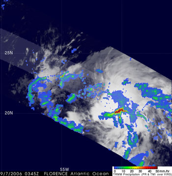 TRMM image of Florence on September 7, 2006