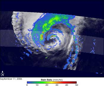 TRMM image of Hurricane Florence on September 11, 2006