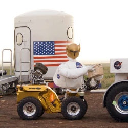 jsc2006e39966 -- A Centaur removes packed samples from the SCOUT rover