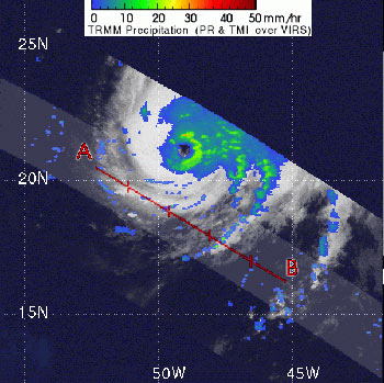 TRMM captures Hurricane Helene on September 17, 2006