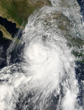 Terra captured this image of Hurricane Lane on September 15, 2006