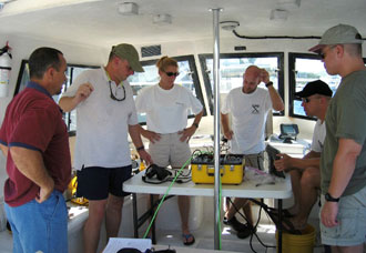 NEEMO 11 crew members participate in a training session