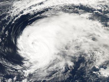 Aqua captured this image of Hurricane Gordon as it raced towards Europe on Sept. 19, 2006.