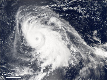 Typhoon Yagi captured by the Aqua satellite