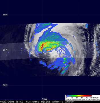 TRMM captures this image of Hurricane Helene on September 22, 2006.