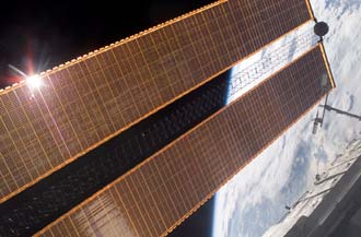 New solar arrays on the space station.