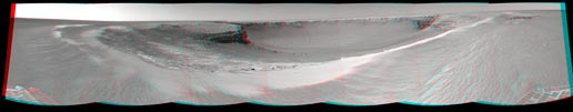 Anaglyph view of Victoria crater