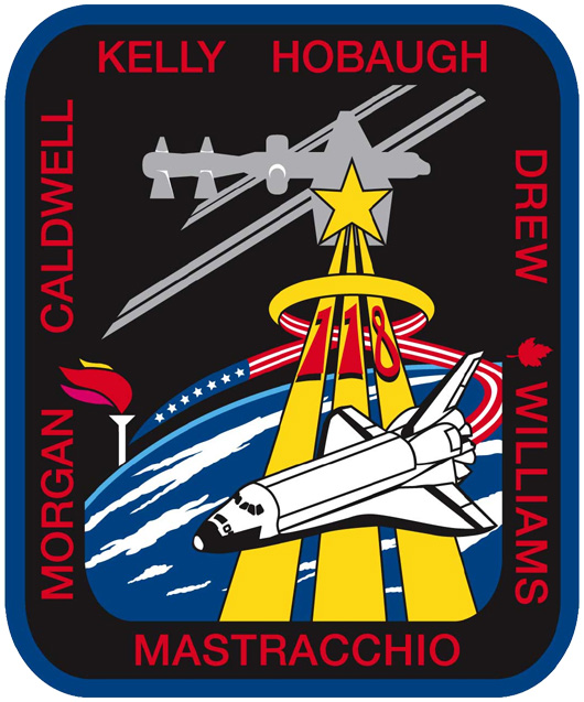 The STS-118 mission patch