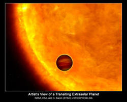 Artist's Impression of a Transiting Exoplanet