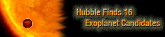 Banner for the Hubble story about finding exoplanets.