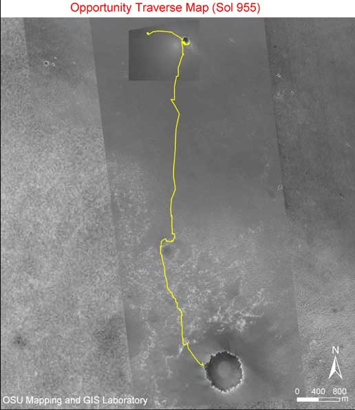 Opportunity traverse map