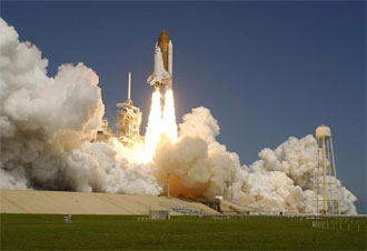 Liftoff of Space Shuttle Atlantis on mission STS-115
